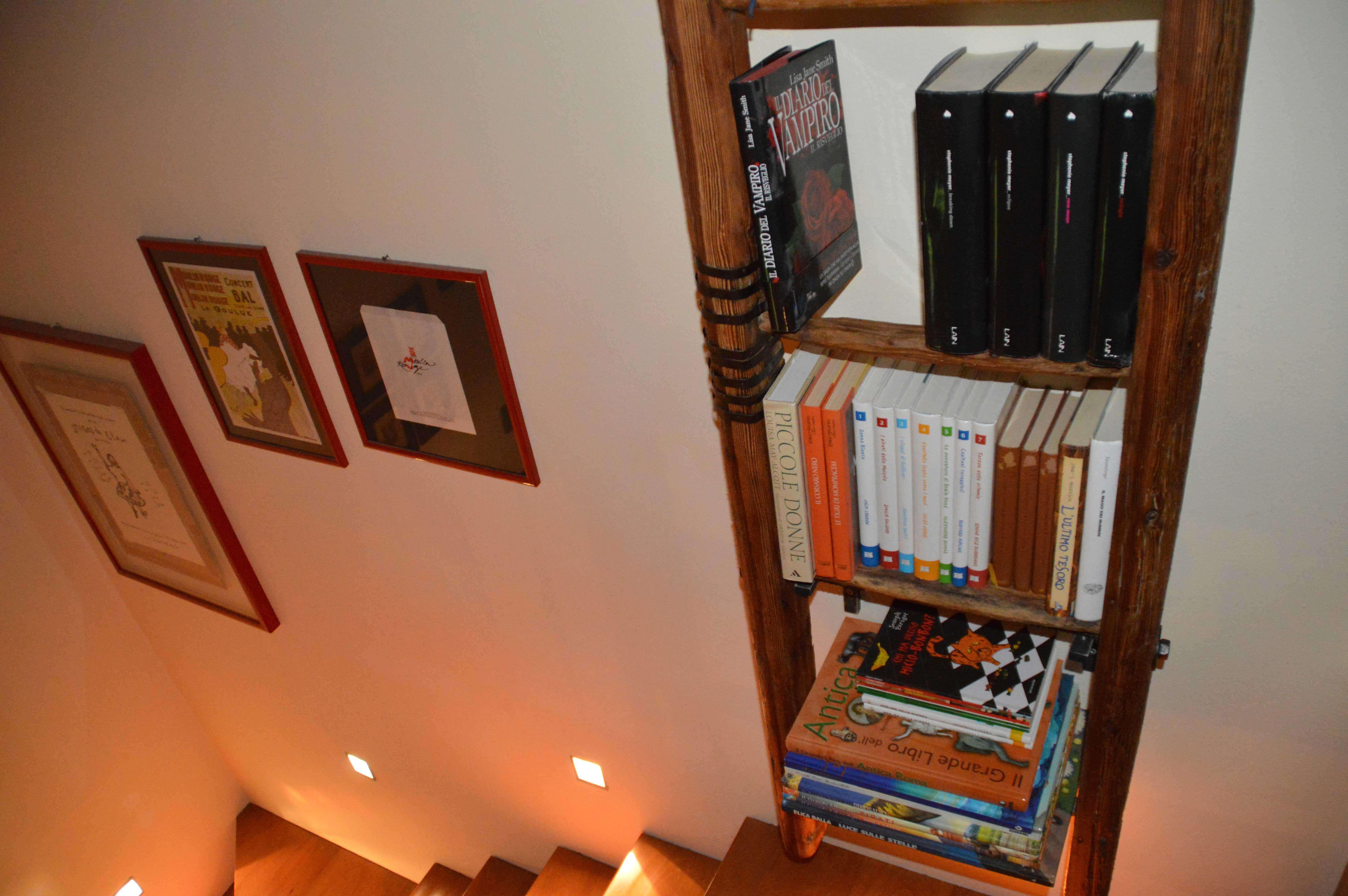 Libreria con vecchia scala a pioli l 39 arte del recupero for Dove posso trovare i progetti per la mia casa