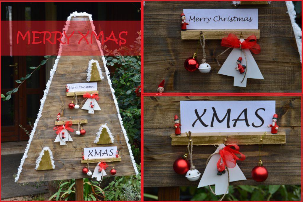 Albero di Natale con perline di legno