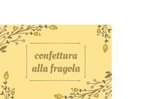 Etichette rettangolari confettura fragola