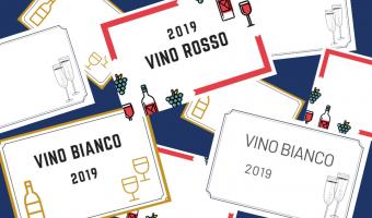 etichette per vino