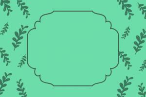 etichetta fantasia foglie