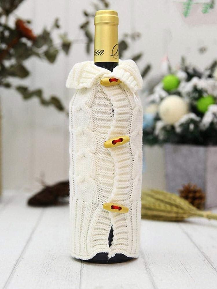 riutilizzare un vecchio maglione bottiglie vino