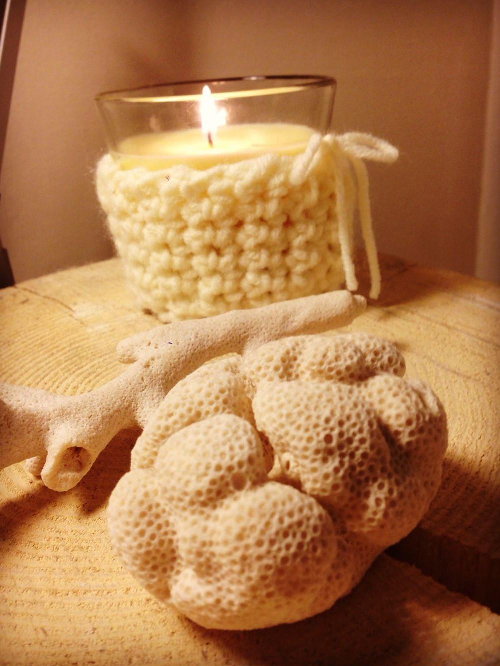 riutilizzare un vecchio maglione candele