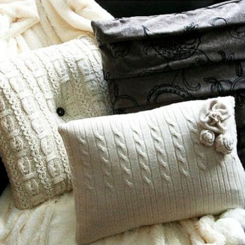 fodere cuscini maglione riutilizzato