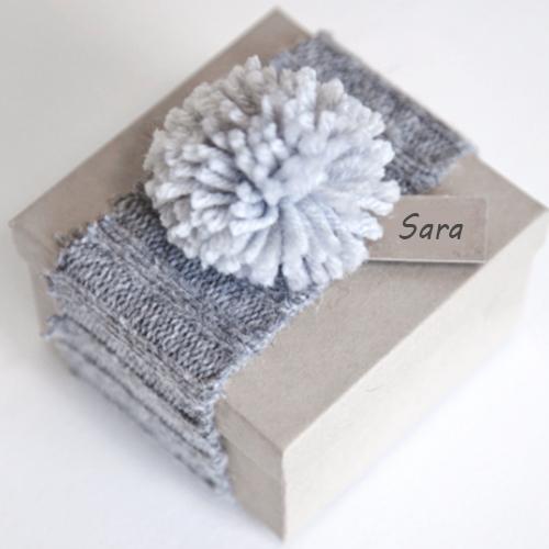 riutilizzare vecchio maglione confezione regalo