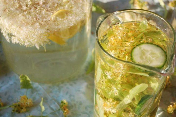 Acqua aromatizzata al sambuco o ai fiori di tiglio