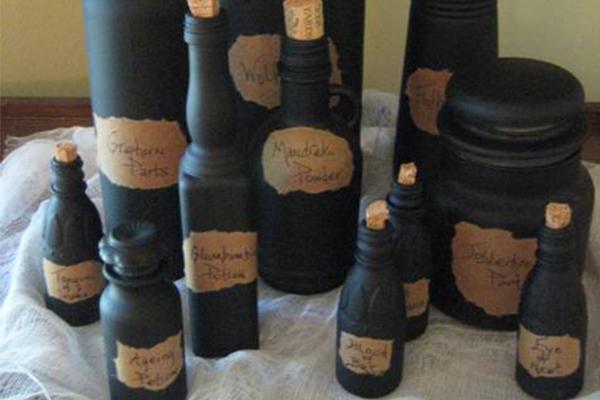 bottiglie nere