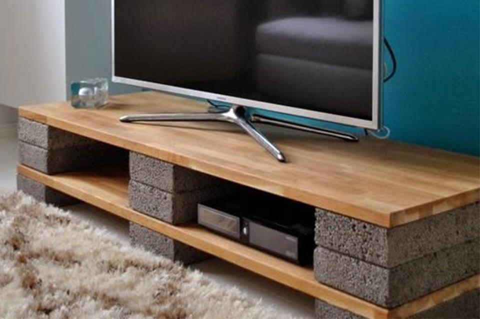 Idee Per Mobili Porta Tv.Come Realizzare Mobili In Blocchi Di Cemento L Arte Del Recupero