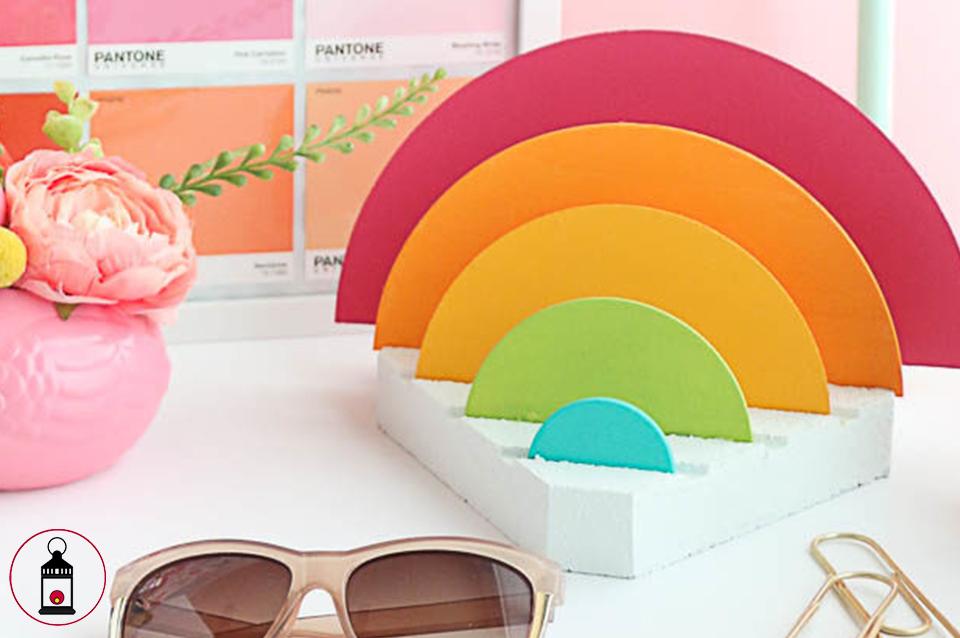 portaoggetti arcobaleno