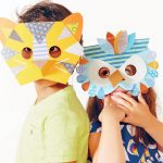 maschere di carta per bambini