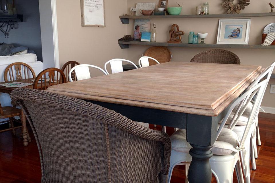 rinnovare un vecchio tavolo da pranzo