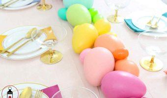 uova di pasqua arcobaleno