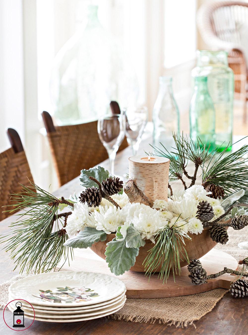 crisantemi bianchi e pino 1