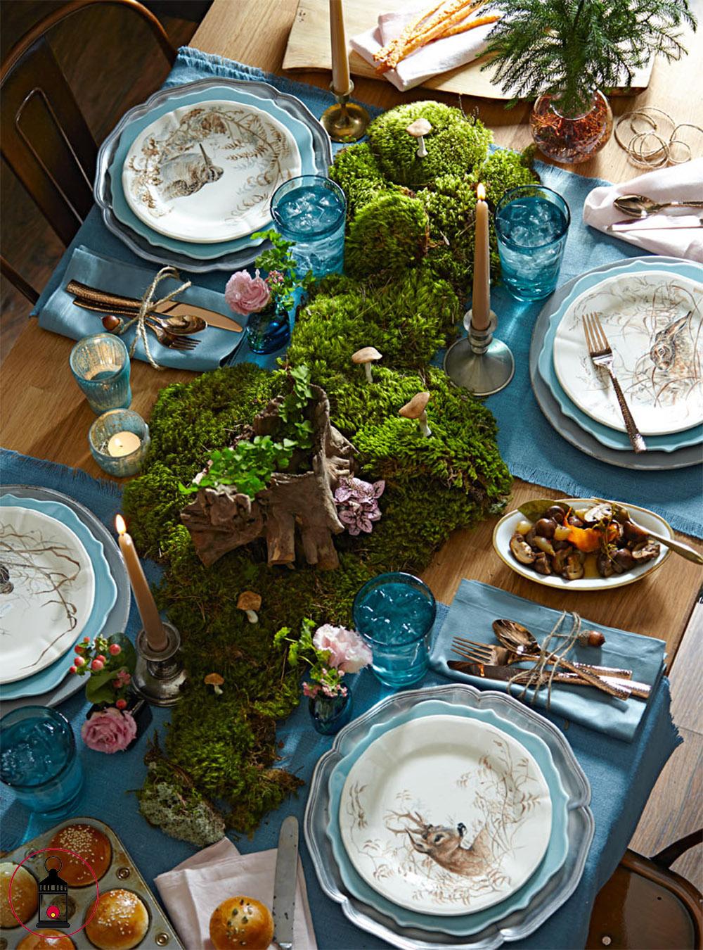 tavolo con muschio 1