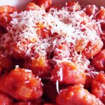 gnocchi di patate e barbabietola