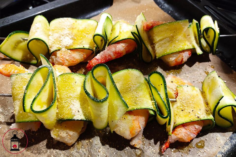 Spiedini di gamberi e zucchine 2